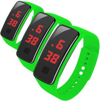 Kingdo LED Waterproof Watch Sports Wristband For Children Set of 3