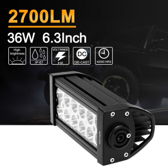 KKMOON 36W LED Car Work Light 6.3 Inch 2700LM Spot Beam Bar forJeep 4x4 Offroad ATV Truck SUV 12V 24V - intl