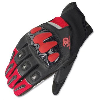 Komine GK-175 Protect Mesh Gloves Canossa (Black/Red)