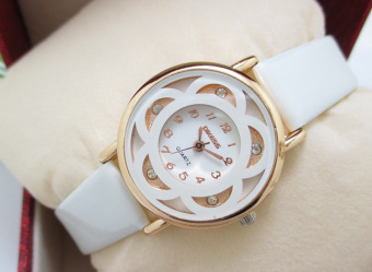 Korean-style gold student square watch women's watch