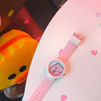 Korean style Japanese-style silicone New style contrasting color student watch