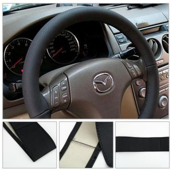 Kuhong Leather Car Auto Steering Wheel Cover With Needles andThread - intl