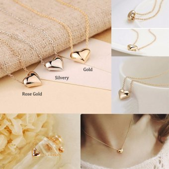 La Vie 3pcs Love Hearts Chain Pendants Necklaces for Best FriendsFamily Mom and Daughters - intl