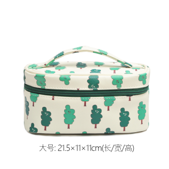 Large capacity portable cute cosmetic makeup bag