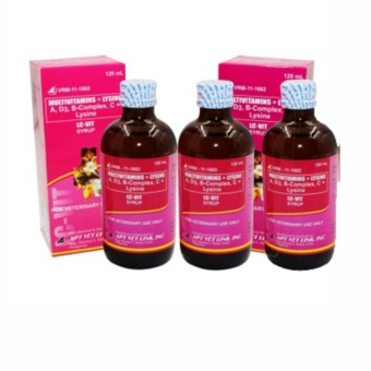 LC VIT syrup Multivitamins for Pets, Dogs and Cats 120ml (Set of 3)
