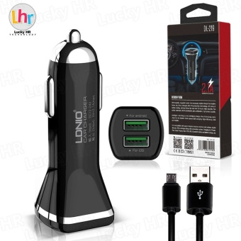 LDNIO DL-219 Dual 2.1A USB Car Charger for Android (Black)