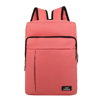 Lightweight Canvas School Backpack Shoulder Bag Laptop Backpack forGirls(Pink)
