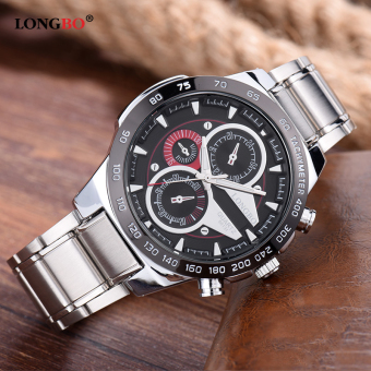 LONGBO Man Fashion Stainless Steel Starp Sport Business Quartz Watch For Men