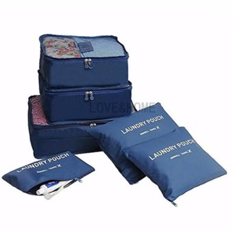 LOVE&HOME 6 in 1 Secret Pouch Travel Organizer Set (Dark Blue)