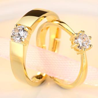 LOVE&HOME Adjustable Couple Rings Jewelry Affectionate LoversRings(Gold) JZ-13