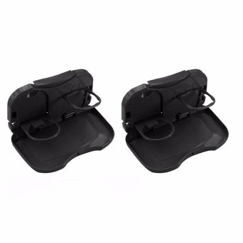 LOVE&HOME Amazing Travel Dining Tray Set of 2(Black)