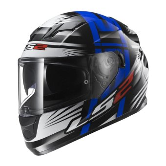 LS2 Full-Face FF320 Bang Helmet (Black/White/Blue)