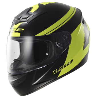 LS2 Full-Face FF352 Fluo Helmet (Black/Yellow)
