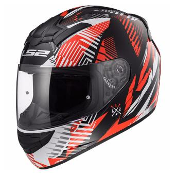 LS2 Full Face FF352 Infinite Helmet (White Black Red)