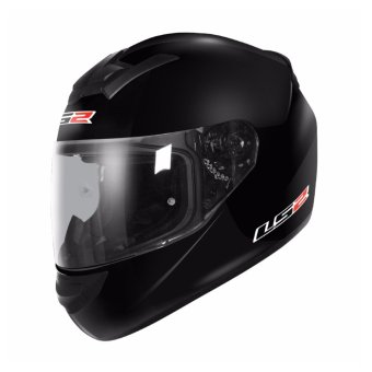 LS2 Full Face FF352 Rookie Mono Helmet (Black)