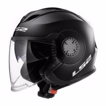 LS2 Open Face OF570 Verso Helmet (Black)