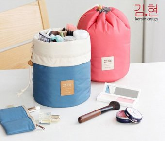 Make Up Cosmetic Pouch Padded Drawstring Travel Dresser Organizer Travel Organiser Bag Essential for Luggage Makeup Best Present and gifts for Christmas Birthday Corporate Church - intl