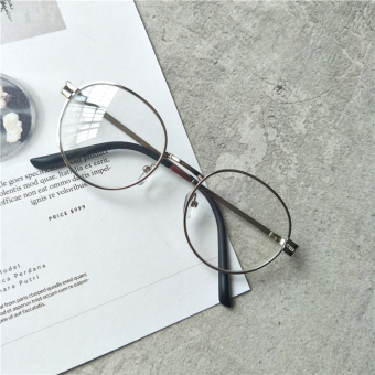 Makeup retro plain women round frame glasses Frame frame glasses