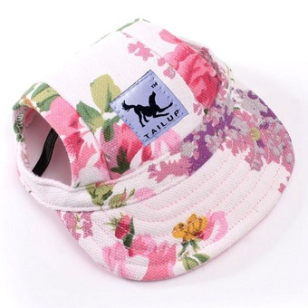 Makiyo Pet Baseball Cap Pet Dog Canvas Hat with Ear Holes Outdoor Hat Accessories S - intl Price Philippines