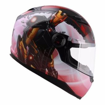 Marvel Full Face Helmet FF1 Avengers Ironman (Red/Gold)