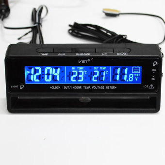 MEGA Auto Car Temperature Voltage Clock Thermometer Meter MonitorDigital LCD