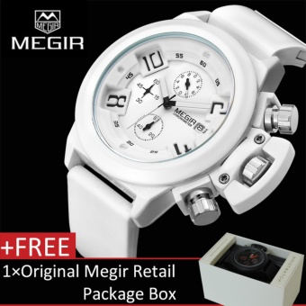 MEGIR 2002G Mens Sports Wrist Watches 3ATM Waterproof Chronograph Quartz - intl