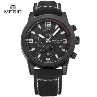 Megir Fashion Mens Chronograph Leather Strap Quartz Watches withLuminous Needles Casual Luxury Calendar Wristwatch for Man 2026 -Intl Price Philippines