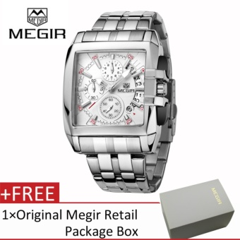 Megir Men Fashion Stainless Steel Strap Chronograph Luminous AnalogQuartz Watch with Calendar - intl Price Philippines