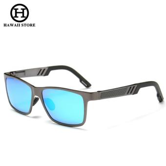 Men Aluminum Polarized Lens Sunglasses Men Sport Mirror Driving Sun Glasses Square Goggle Eyewear Accessories - intl Price Philippines