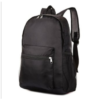 Men Women Backpack Hiking Bag Camping Travel Sports Pack-Black -intl