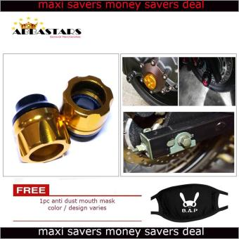 Motorcycle Axle Nut Cover Axel Nut Universal Cap Gold for SuzukiRaider R150-MOTOGP