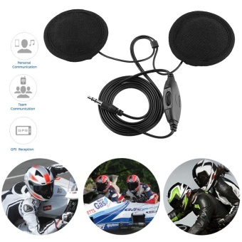 Motorcycle Helmet Headphone Stereo Call Headset 3.5mm Jack-plug For Mobile Phone MP3 - intl