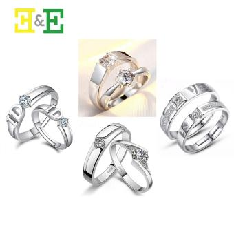 NARY J040 Fashion Opening Couple Rings Lover's Bands (ONE SIZE)With E013 Couple Rings(ONE SIZE)/E016 Couple Rings(ONE SIZE)/E027Couple Rings(ONE SIZE) Price Philippines