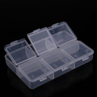 New Mini Portable Empty Braille 6 Cells Pill Medicine Drug Storage Case Box (Intl)