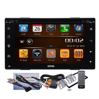 Newest Car Electronics 6.2 Full Touch Screen Car DVD Player Multimedia IN Dash GPS Navigation with Free 8GB GPS Map and Remote Control Car Charger Automotive Stereo System - intl