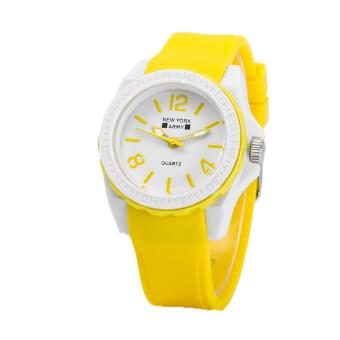 Newyork Army NYA1348 Jelly Silicone Ladies Watch - Yellow