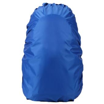 Nylon Waterproof Outdoor Travel Camping Hiking Backpack School Bag Rain Cover for 30-60L Backpack Blue - intl