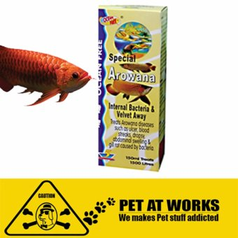 Ocean Free Super Arowana Internal Bacteria & Velvet Away(150ml) Fish Medicine for Arowana Price Philippines