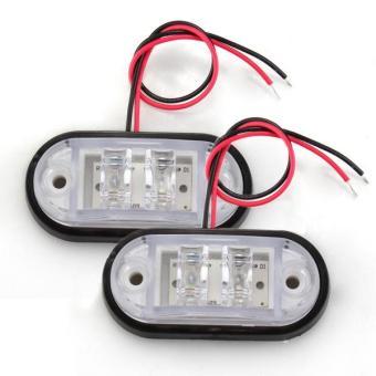 OEM Car Piranha Side Marker Blinker Lampu LED - Putih - 2 Buah