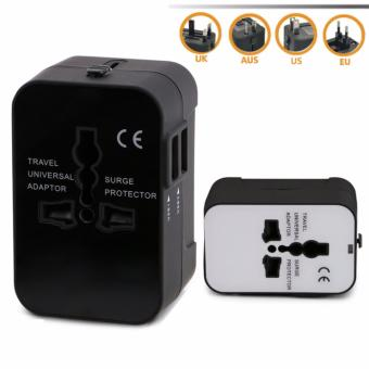 ONE'S Universal Global Multi-Function Socket Adapter TravelConverter Plug 5 Different Input Plugs Tightly Connect into 1Adaptor(Black) Price Philippines