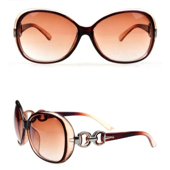 OULAIOU High Quality AAAAA Classic Luxury Big Round Frame Shades Sun Glasses for Women's Fashion UV400 Sunglasses 9509 - intl