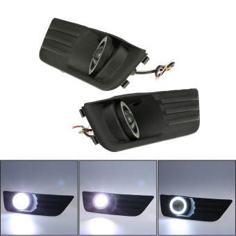 Pair of Car Lower Bumper Grille Fog Lights LED Lamp for Ford Focus 2004-2007 - intl