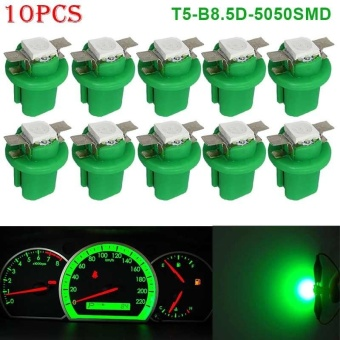 PAlight 10pcs T5-B8.5D-5050smd LED SMD Lamp Car Gauge Speed Dash Bulb Dashboard Instrument Light 12V - intl