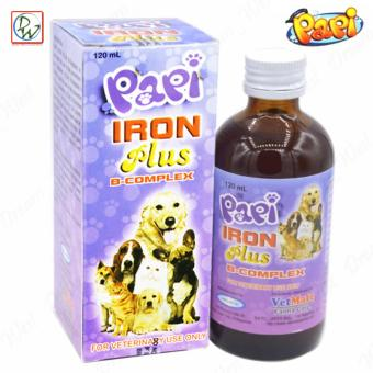 Papi Iron Plus B-Complex Supplement for Dogs & Cats 120ml