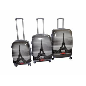 "Paris Hard Case Travel Luggage F-9031 set of 3 size (20""/24""/28"")"