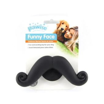 Pawise Pet Toy Funny Face Moustache