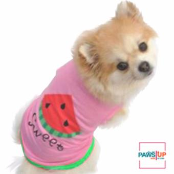 Paws dog clothes printed watermelon design (Large) Price Philippines