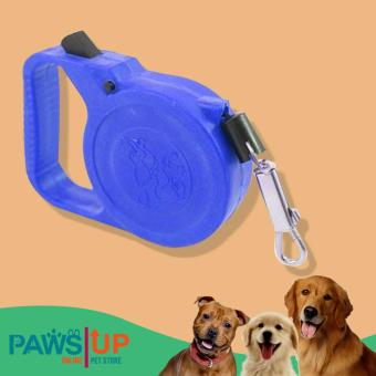 Paws UP 3 Meters Long Automatic Retractable Dog Cat Leash RoundString Adjustable Rope Pet Dog/Cat Extending Leash Neck Chain LeadStrap (Blue)