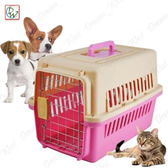 Pet Carrier 1002 Dog Travel Carrier Cage Airline Standard PetHeight Up To 35cm For Small Dog and Cat (Pink)