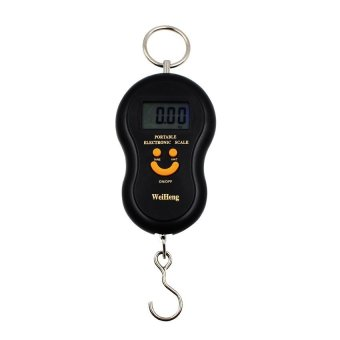 Portable Electronic Luggage Scale (Black/Orange)